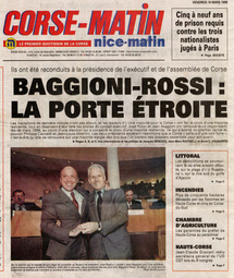 <i>Elections territoriales 1999 (source Corse-Matin)</i>