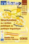 19e colloque de la FLAREP en Corse - structuration de l'action publique de politique linguistique